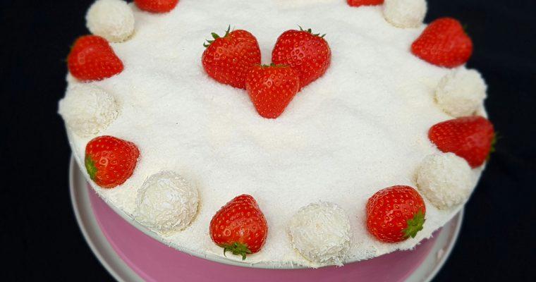 No bake Rafaello taart