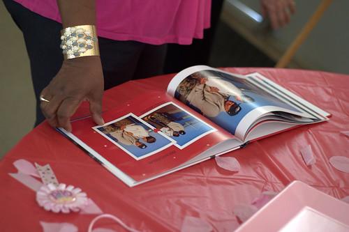 fotodetails in een gastenboek