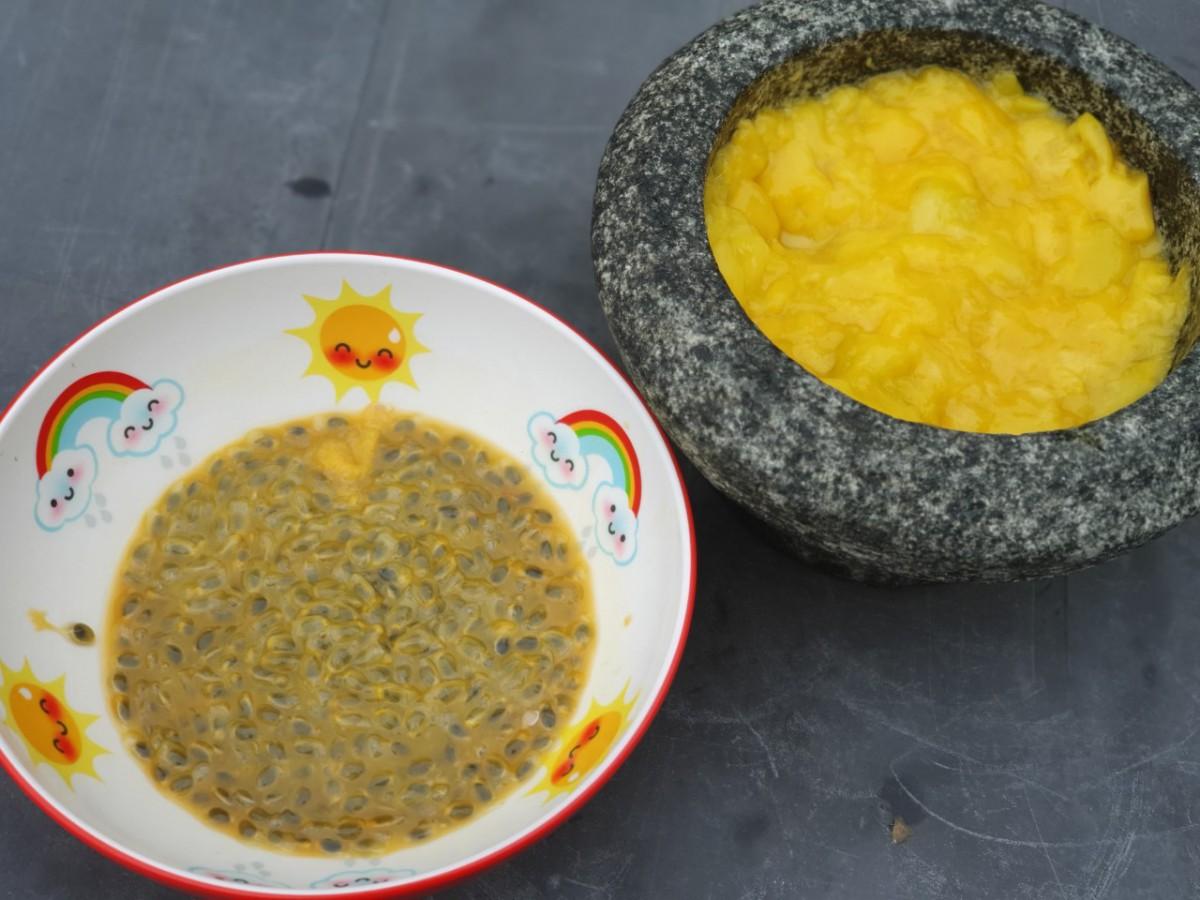 mango passievrucht cheesecake maken