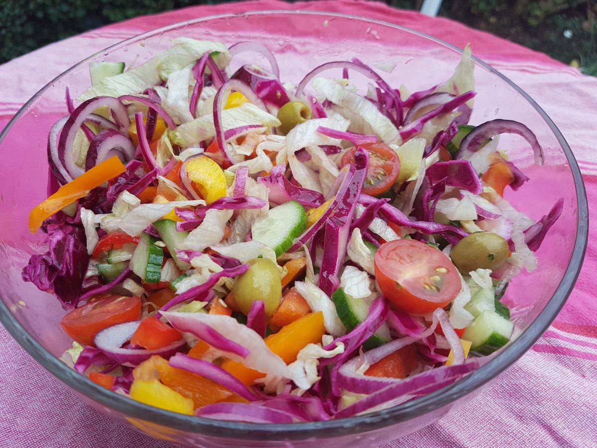 Een lekkere salade bij een gezonde kapsalon