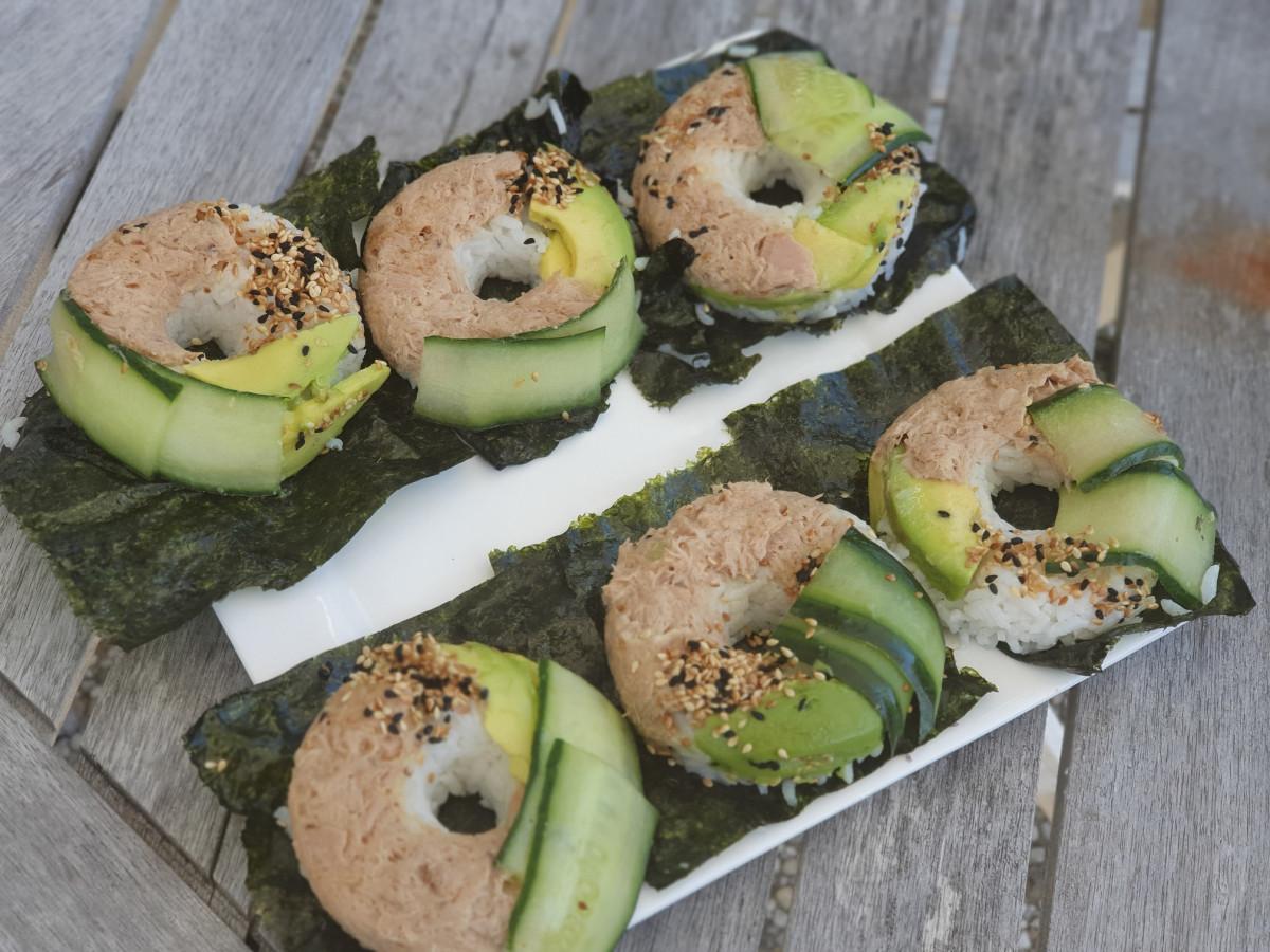 Sushi donuts, super makkelijk om zelf te maken