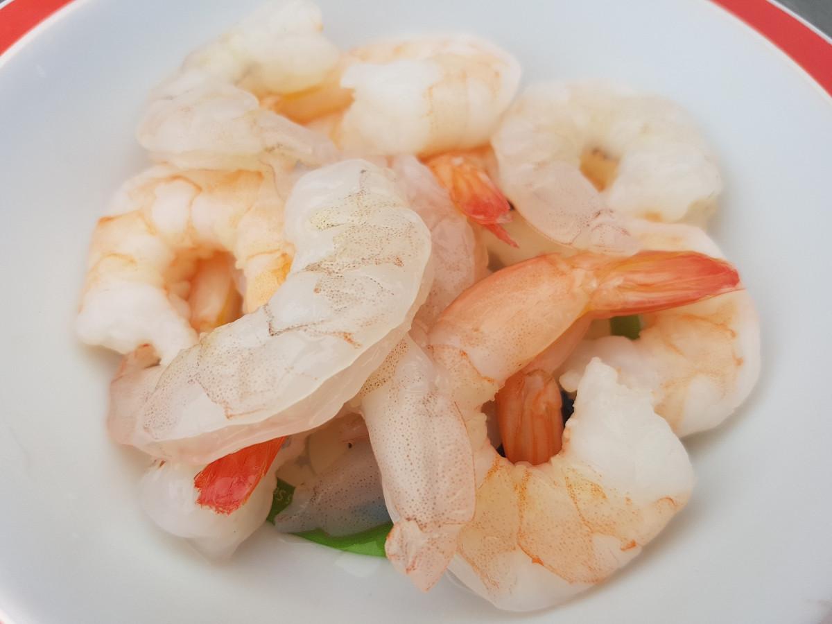 Garnalen in de Thaise soep
