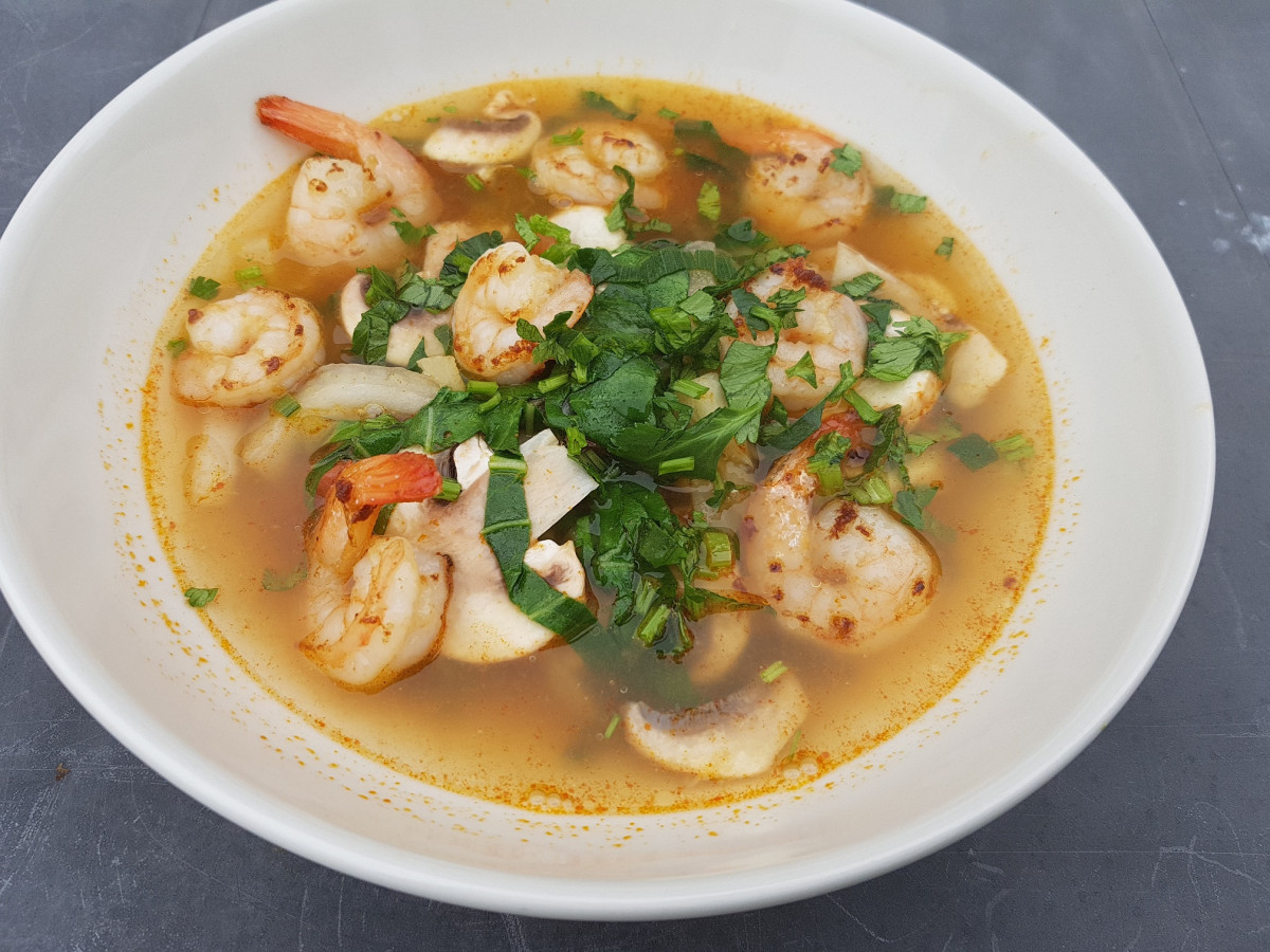 Tom Yum soep, super lekker