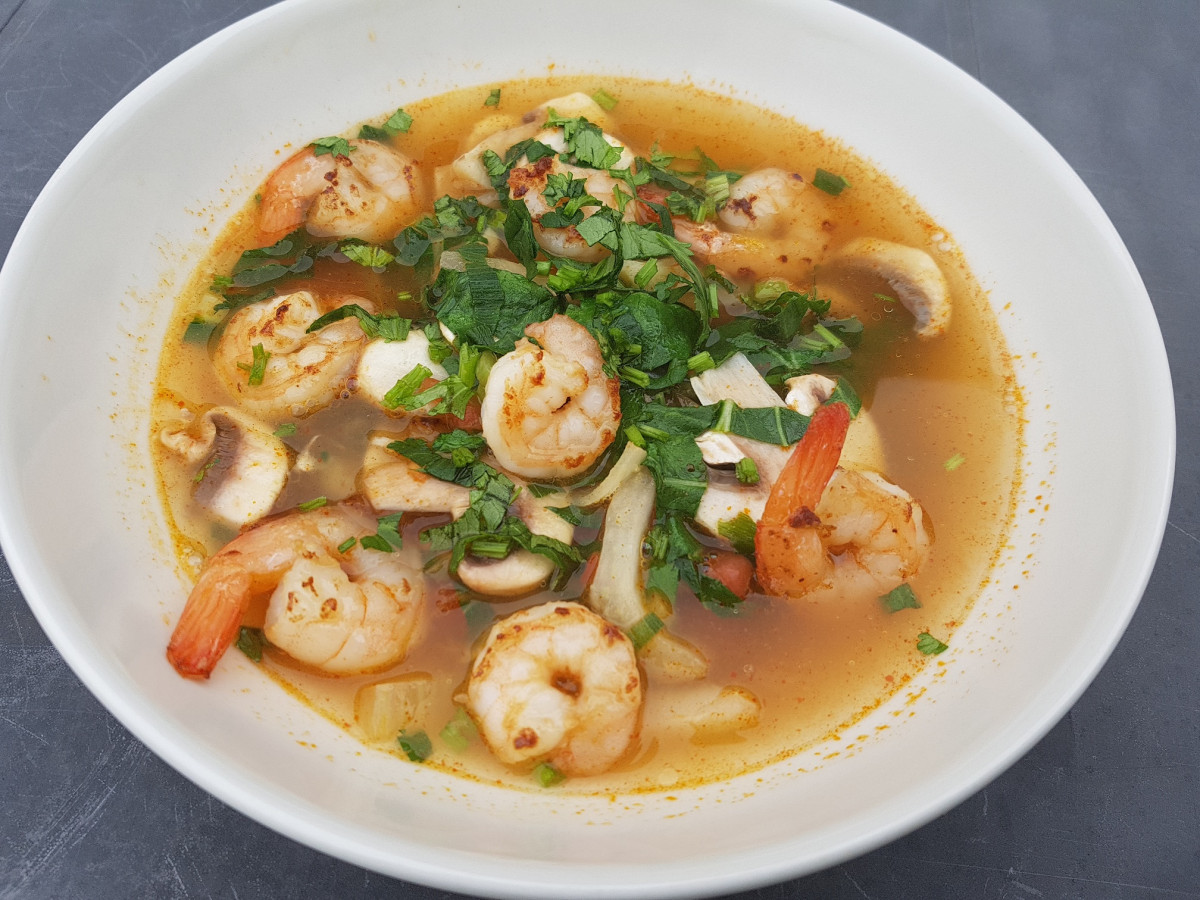 Tom Yum soep, super makkelijk om zelf te maken