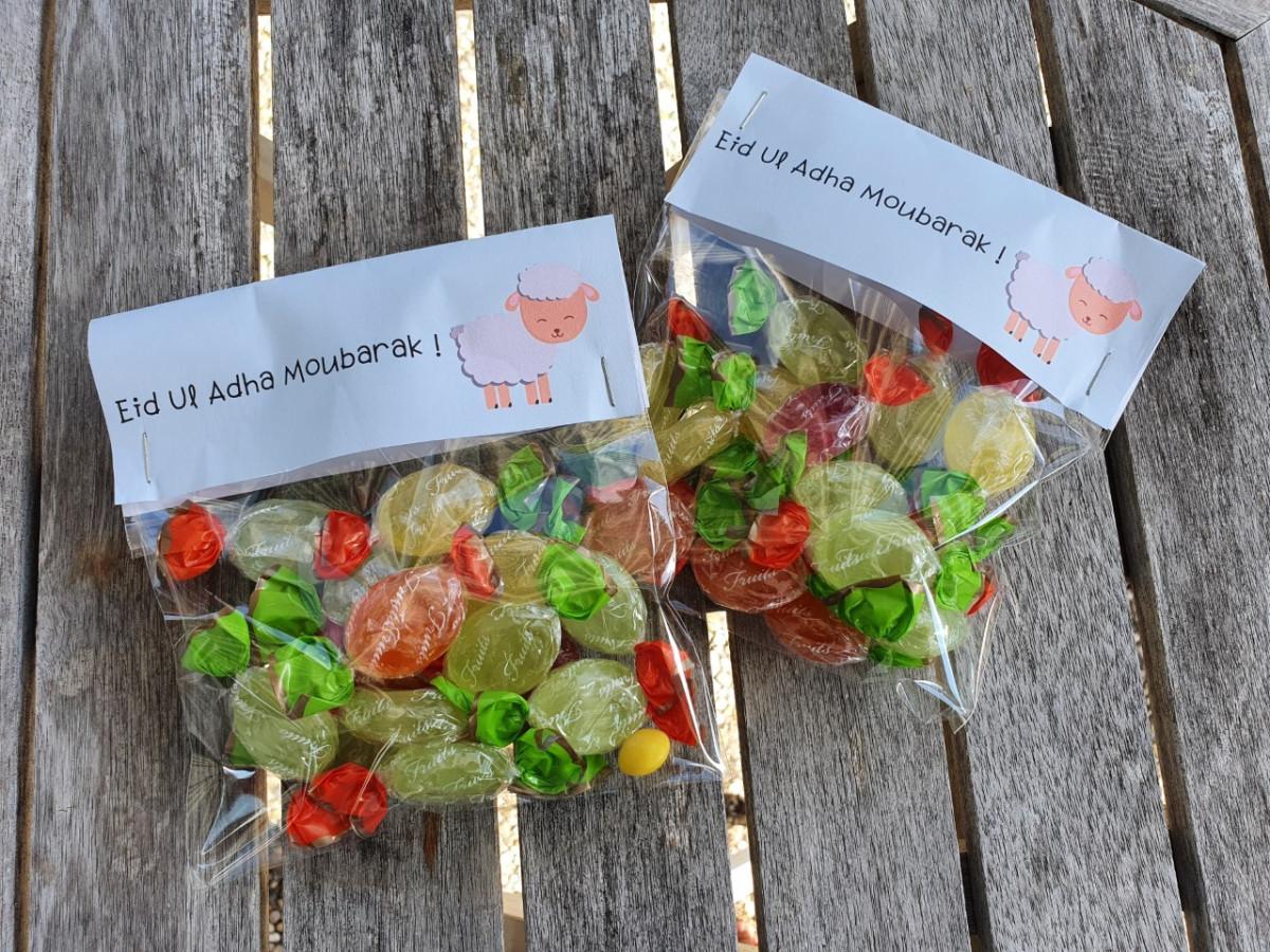 Eid snoepzakjes, makkelijk zelf te maken