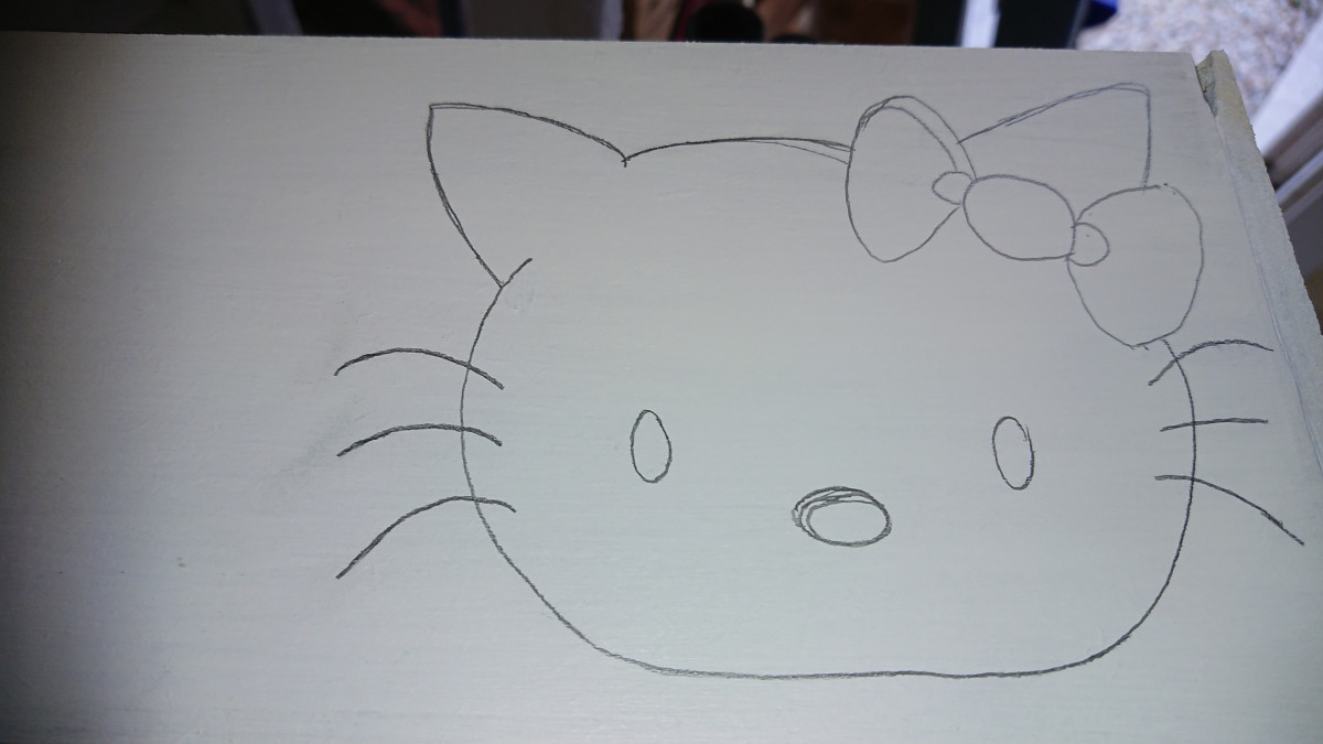 Teken zelf je Hello Kitty
