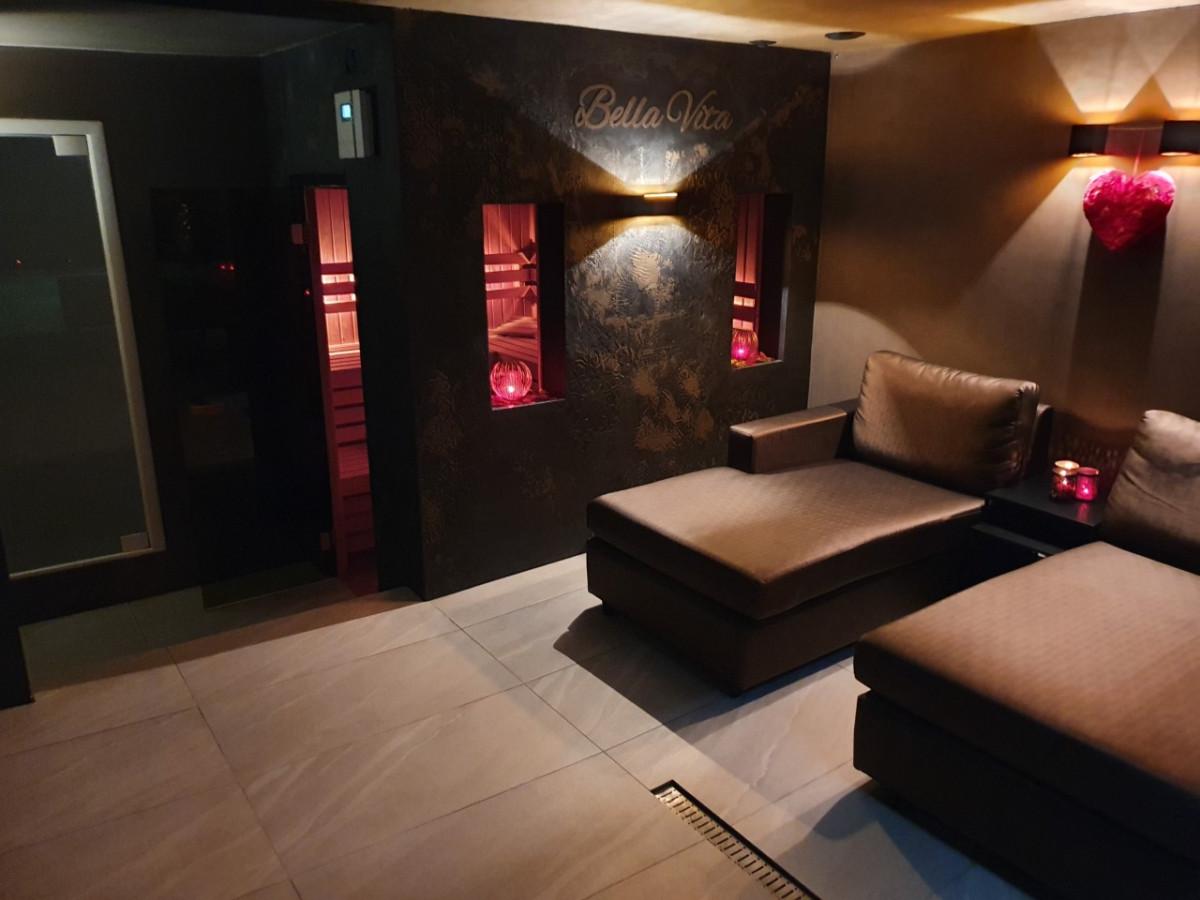 Een sauna in de privewelness Bellavita