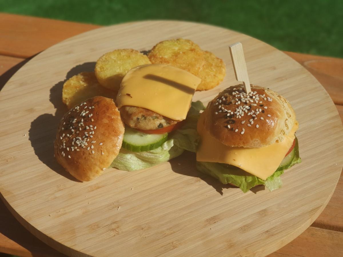 broodjes kipburger, lekker in de zomer