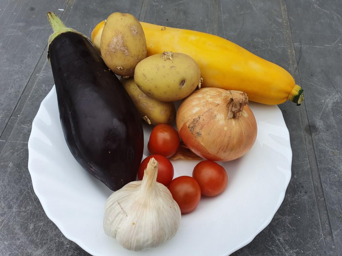 aubergine en gele courgette, super gezond
