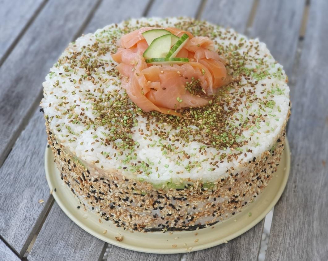 Maak je eigen sushi taart