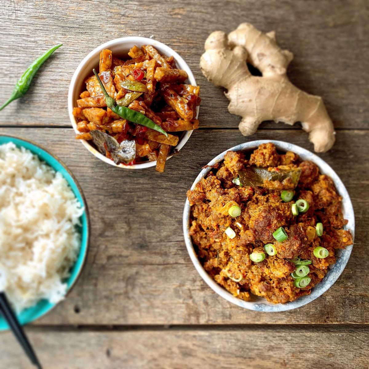 Recept van vegetarische Rendang