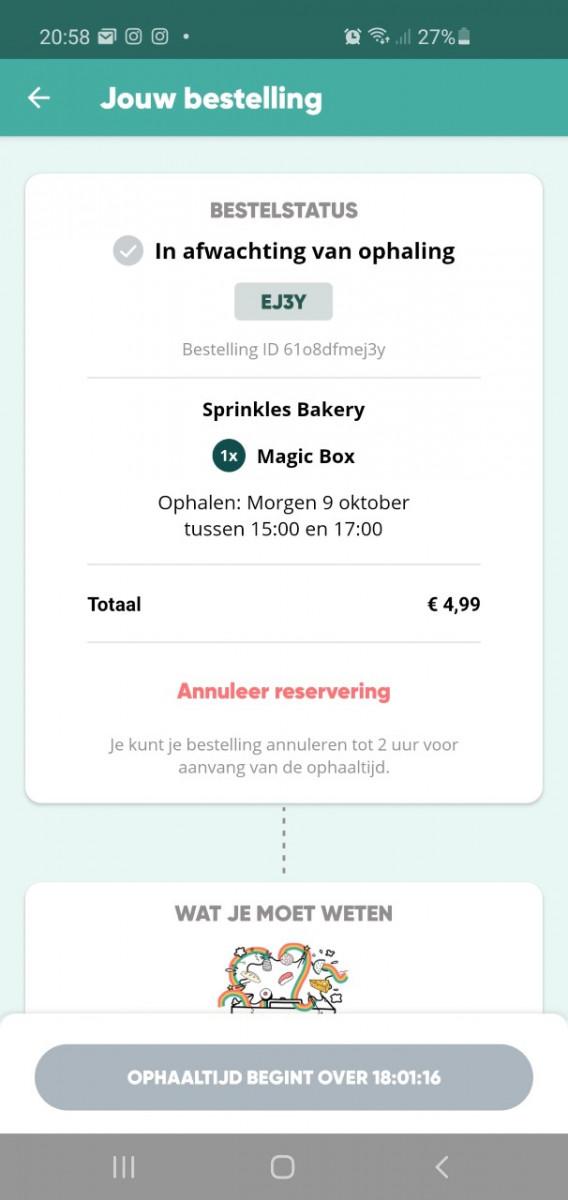 too good to go app tegen voedselverspilling