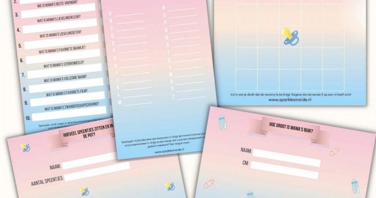 De 10 leukste babyshower games + gratis printables
