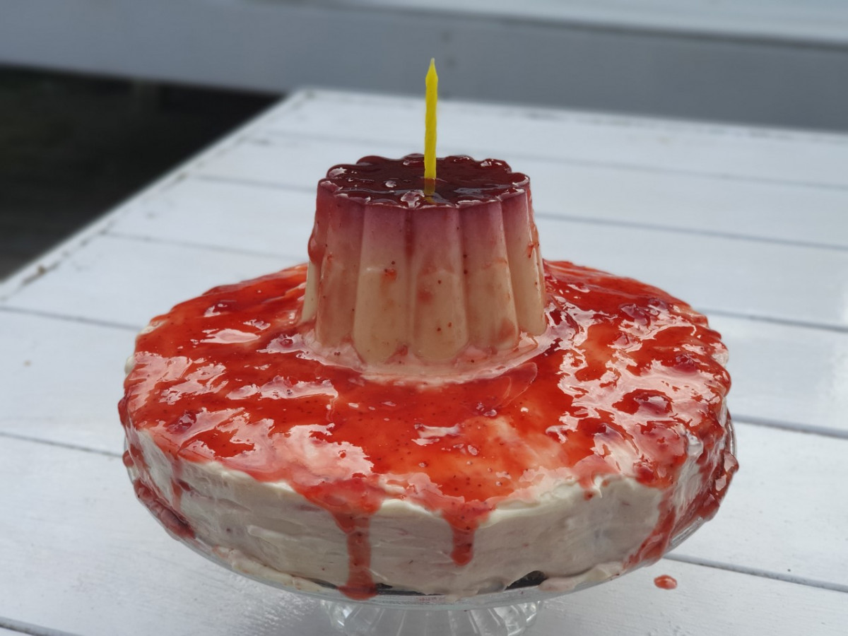 Mona toetje taart : No Bake, zonder oven