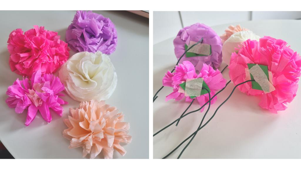 bloemen van papier maken
