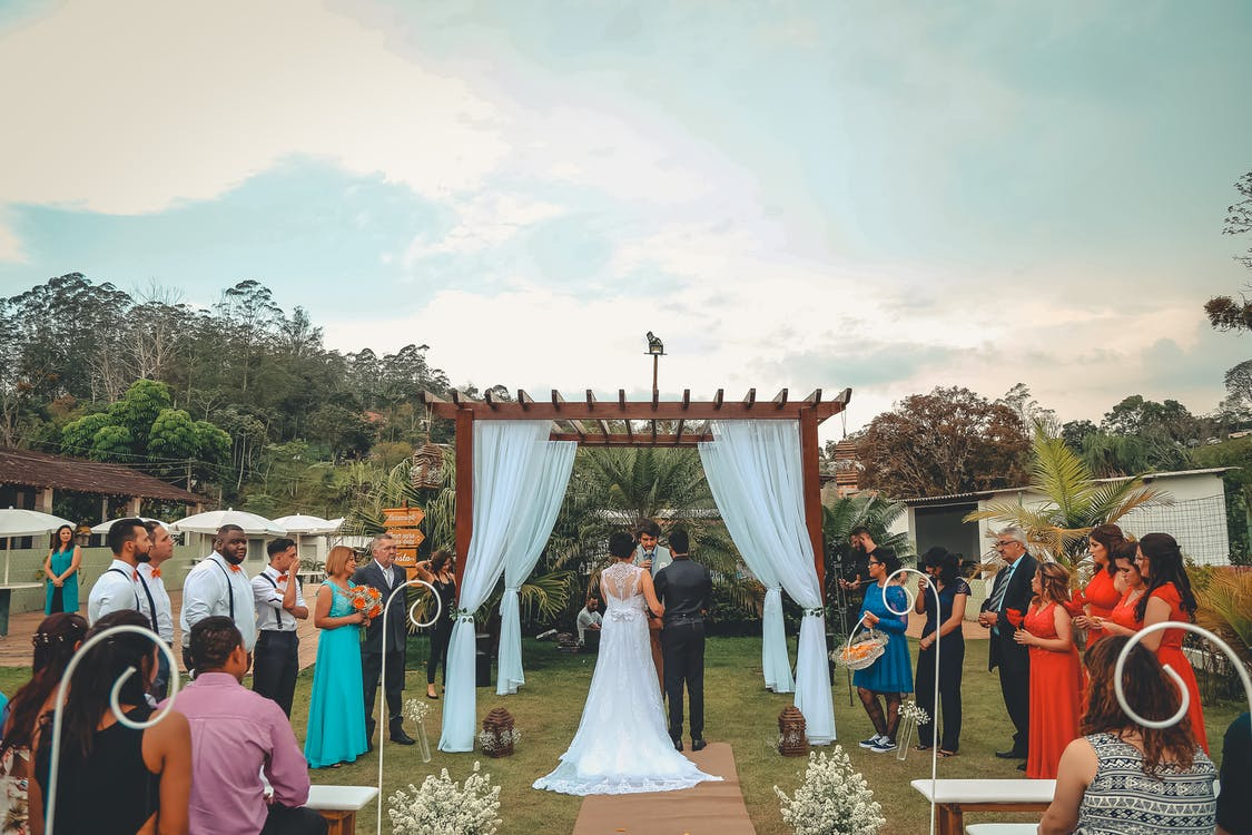 Een huwelijk in de tuin