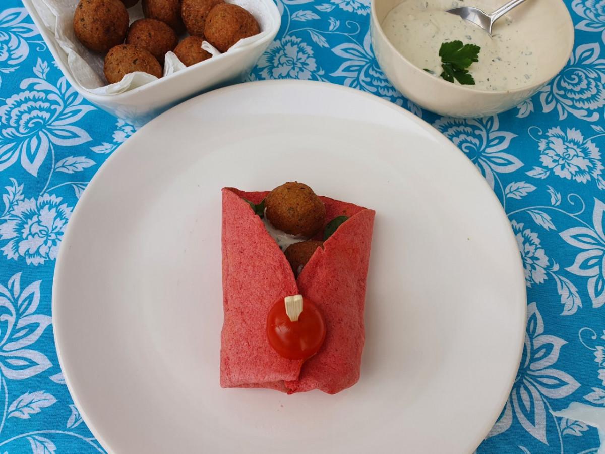 falafel wrap recept